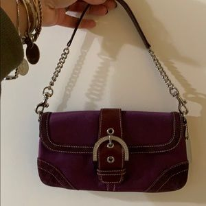 Coach Vintage satin mini bag with embellishment
